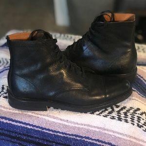Men's leather FRYE dress boots, black size 9.5